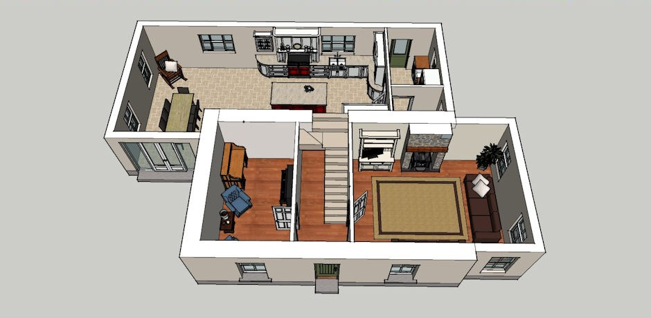ground floor layout in 3D