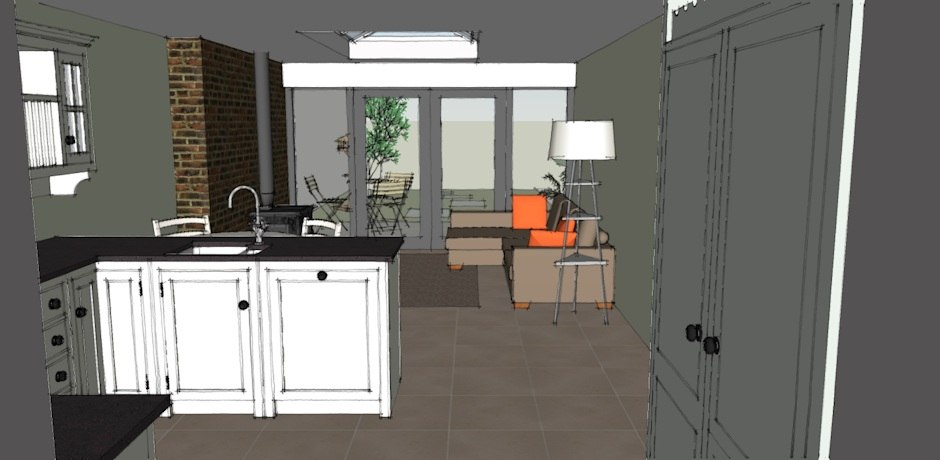 kitchen extension cork