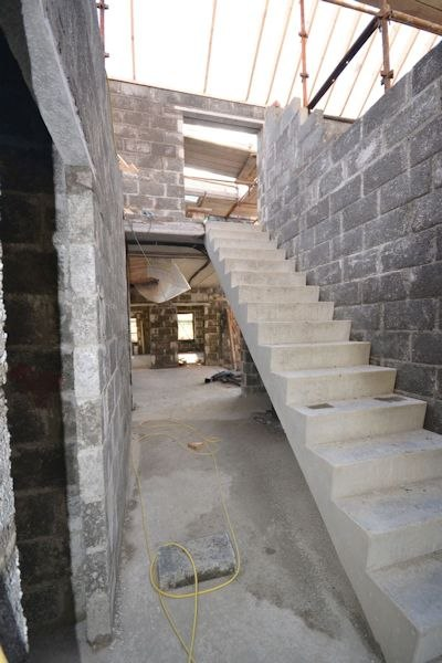 Staircase under construction