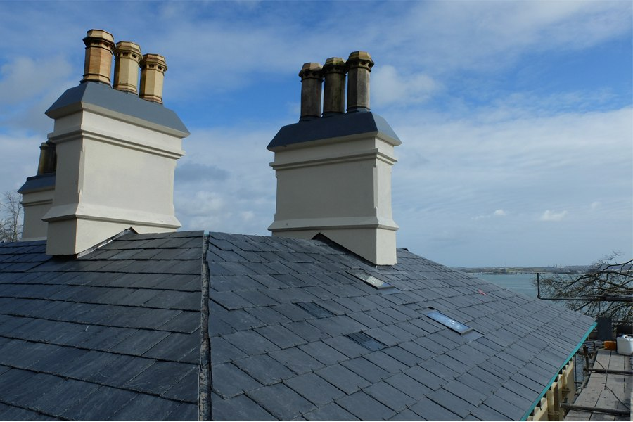 georgian house chimney roof restoration