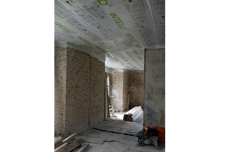 renovation georgian house breathable membrane ceiling