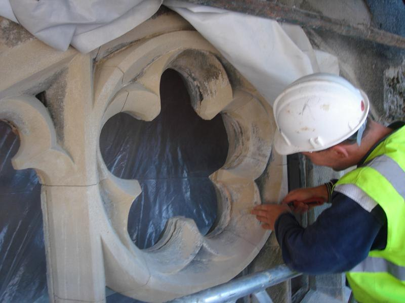 Restoration of sandstone windows